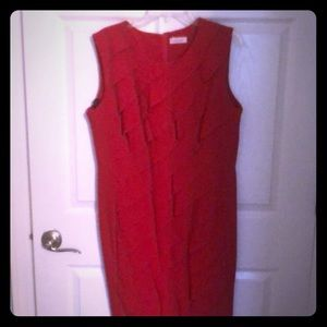 Red lined Professional/semi-formal dress.